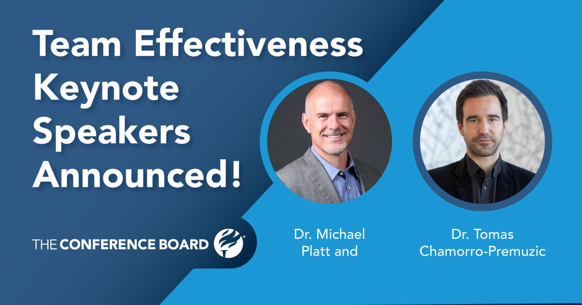 Keynote Speakers Announced for Conference Board Pre-Conference Team Effectiveness Workshop