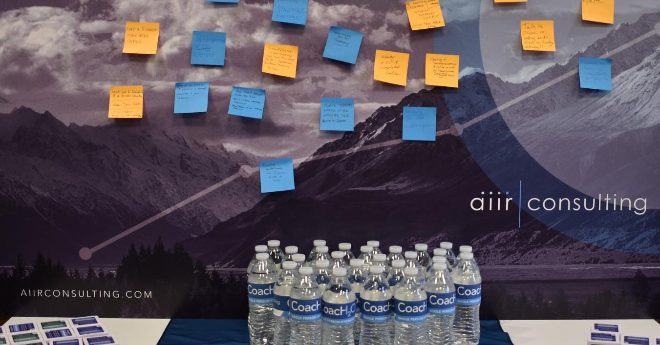 The Commitment Board in the AIIR Rapid Coaching Room.
