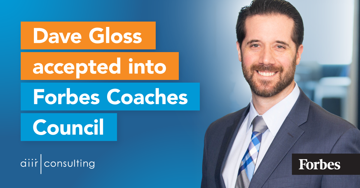 Dave Gloss accepted into Forbes Coaches Council