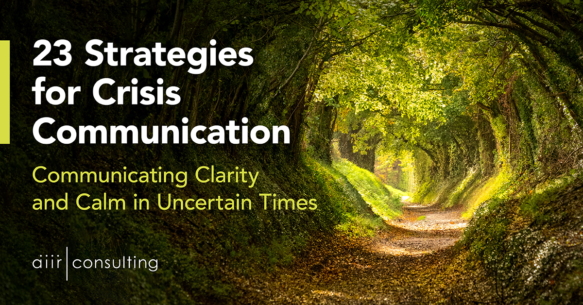 23 Strategies for Crisis Communication