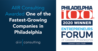 AIIR is the 22nd-Fastest Growing Company in Philadelphia