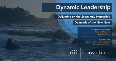 [On Demand Webinar] The Conference Board and AIIR Consulting: Dynamic Leadership
