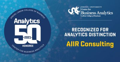 AIIR Recognized as Top 50 Innovator in Business Analytics